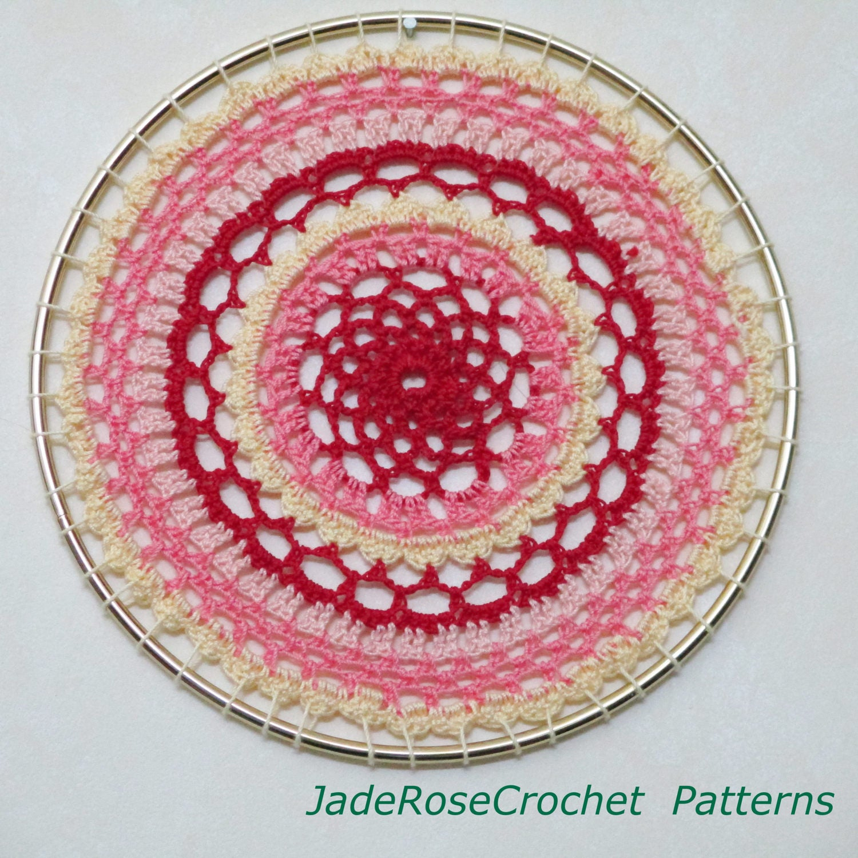 Mandala Wall Art Crochet Pattern Dream Catcher Crochet Etsy