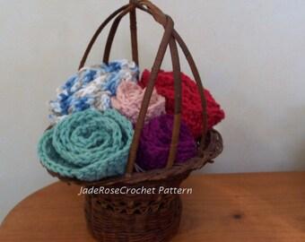 Crochet Doily Pattern, Dish Cloths, Flower Doilies, Potholders Three Sizes PDF501