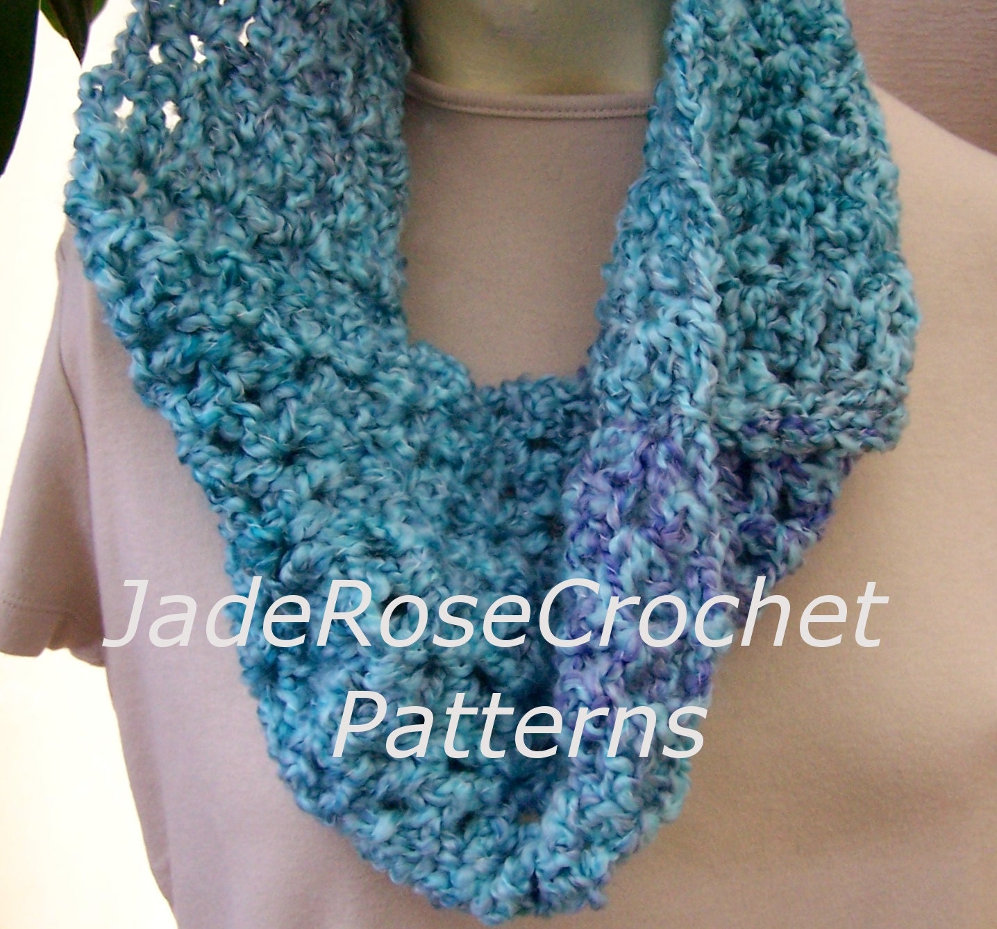 Crochet Scarf Pattern Quick Crochet Scarf Easy Cowl Pattern Etsy