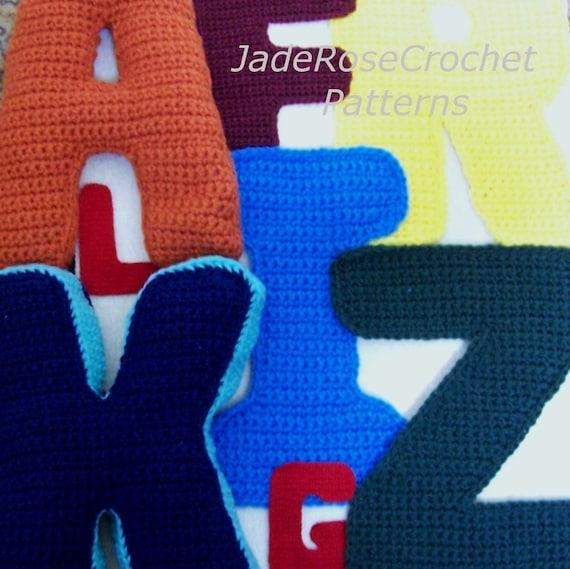 Crochet Letters Pattern Alphabet 3d Pillows Block Letters Etsy