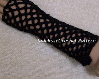 Crochet Glove Pattern, Lace Crochet Glove Pattern, Fingerless Glove Crochet Pattern, Open Weave Gloves Crochet Pattern, 3 Long Styles,PDF103