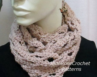 Crochet Scarf Pattern 3 sizes Infinity Scarf Hugs and Kisses  PDF228