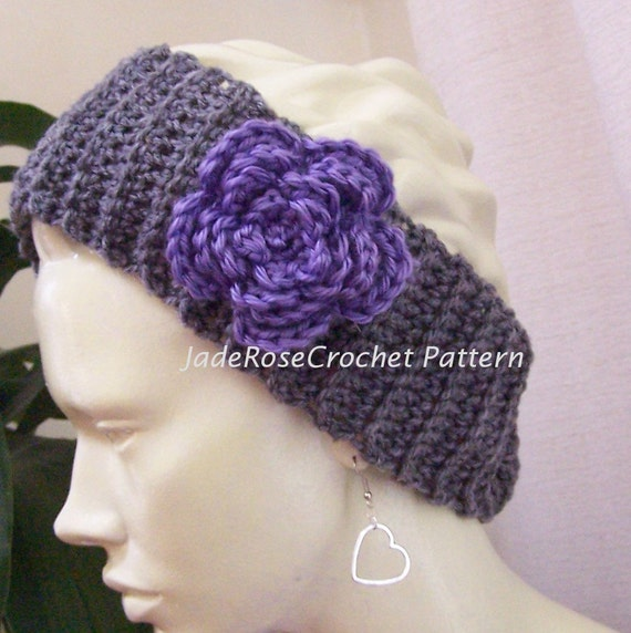 Crochet Headband Pattern Headwrap Crochet Pattern Flower Etsy