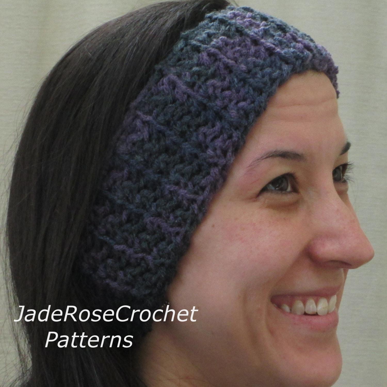 Crochet Pattern Headband And Headwrap Metro Twist Earwarmer Etsy