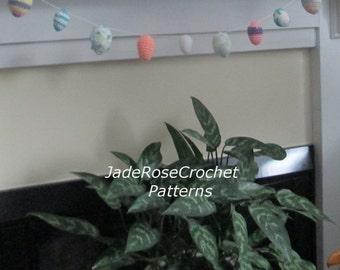 Crochet Easter Egg Pattern, Easter Egg Garland, Easter Eggs and Basket, Home Decor PDF701