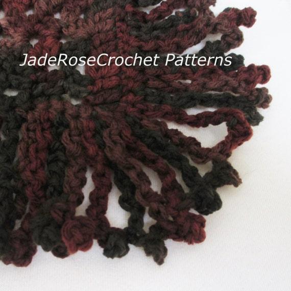 Crochet Fringe Pattern Boho Crochet Fringe Pattern Fringe Crochet Pattern Free Crochet Pattern Instant Download Pdf009