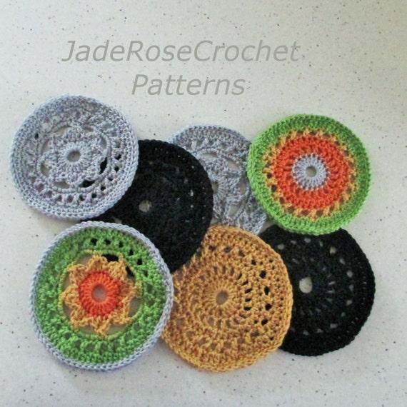 Crochet Coaster Pattern Large Coaster Pattern Mug Rugs Etsy