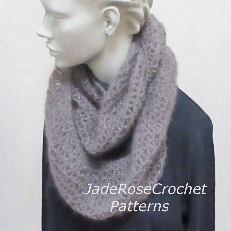 2b6d698513 Crochet Scarf Pattern, Crochet Cowl Pattern, Crochet Infinity Scarf  Pattern, PDF242