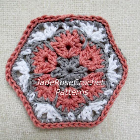 Crochet Hexagon Pattern Crochet African Flower Pattern Etsy
