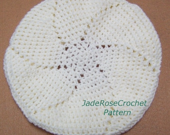 Crochet Pattern Slouchy Beret with 2 Variations - Pinwheel and Pie PFD403