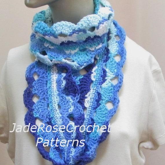 Crochet Infinity Scarf Pattern Crochet Cowl Pattern Circle Etsy