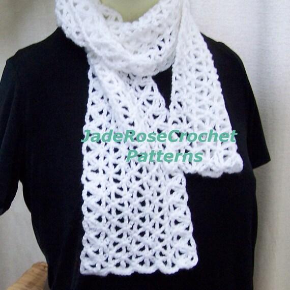 Crochet Scarf Pattern Open Weave Crochet Scarf Pattern Etsy
