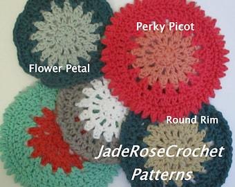 Small Doilies Crochet Pattern,Crochet Coaster Pattern, Large Coaster Pattern, Mug Rugs,  Mandala C,oasters Crochet Pattern  PDF520