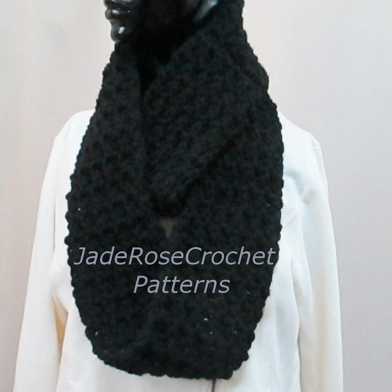 c176cc48a7 Crochet Cowl Pattern, Crochet Scarf Pattern, Crochet Infinity Scarf  Pattern, Chunky or Soft and Squishy, PDF2201