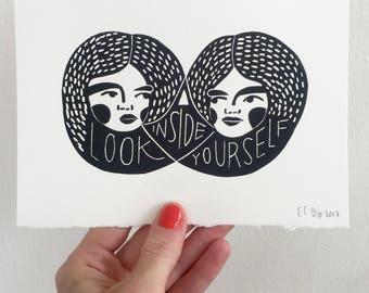 Look Inside Yourself Blockprint