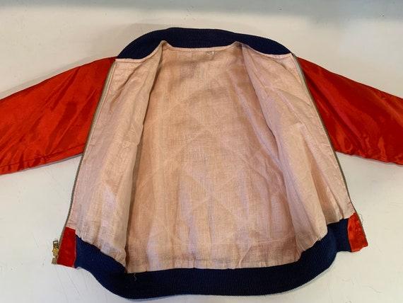 Vintage 1970's Korea Sukajan Silk Child's Bomber … - image 6