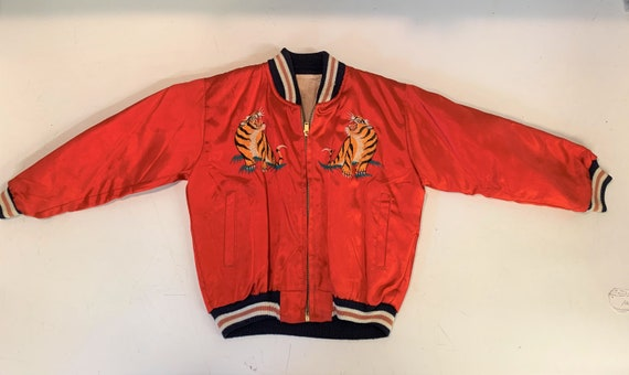 Vintage 1970's Korea Sukajan Silk Child's Bomber J