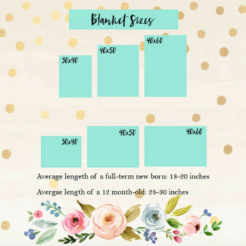 Floral Blanket Monthly Marker Monogramed Milestone Swaddle Monthly Baby Blanket Girl Receiving Shower Gift Personalized Baby Blanket