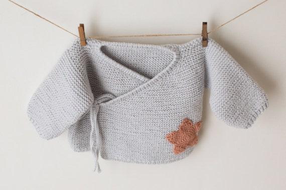 Pdf Knitting Pattern The Star Wrap Baby Kimono Jumper Pattern
