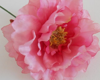 Etsy your place to buy and sell all things handmade pink peony silk flower silk flower artificial flower peony wedding decoration wedding flowers supply pink flower crafts mightylinksfo