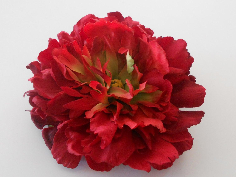 Red Silk Peony Silk Flower Artificial Flowers Fake Flowers