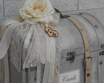 Wedding Card Box / Wedding Trunk Card Holder / Wedding Card Holder / Large Wedding Trunk / Wedding Decorations / Card Holder