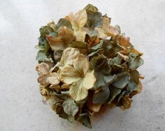 Artificial Silk Green Hydrangea Head / Silk Flowers / Crafting Flowers / Fake Flowers / Floral Crown Flowers / Green Flowers / Rustic Flower