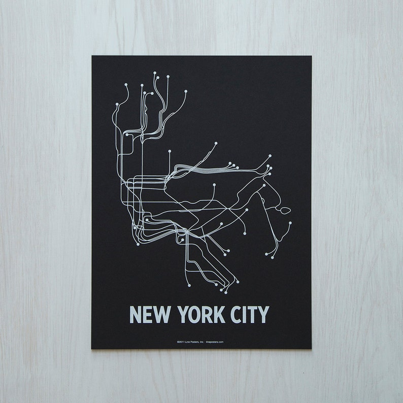 NYC Sm Screen Print  Black/White image 0