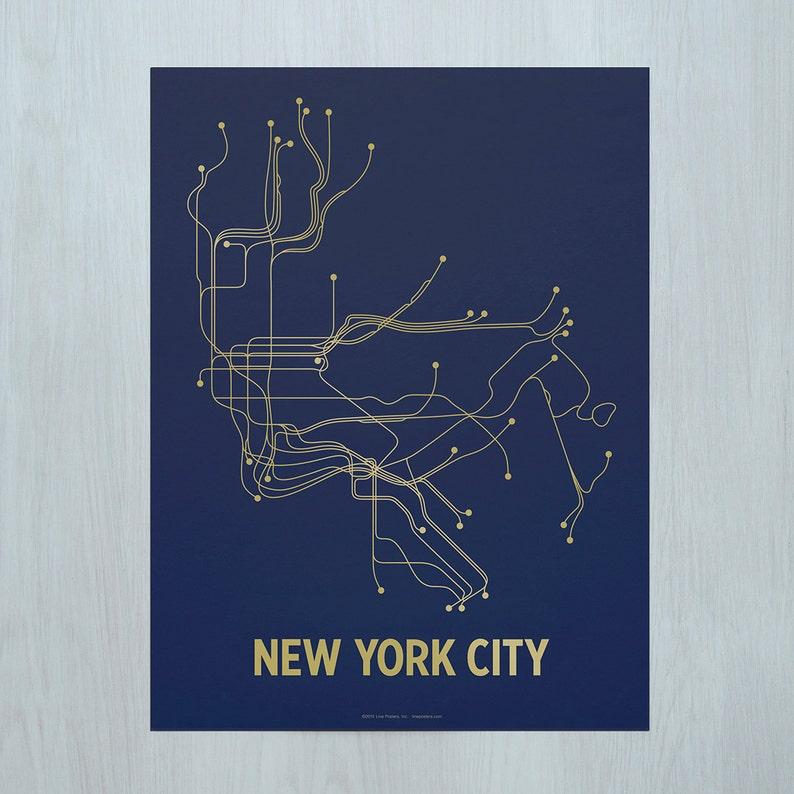 NYC Screen Print-Navy/Gold image 0