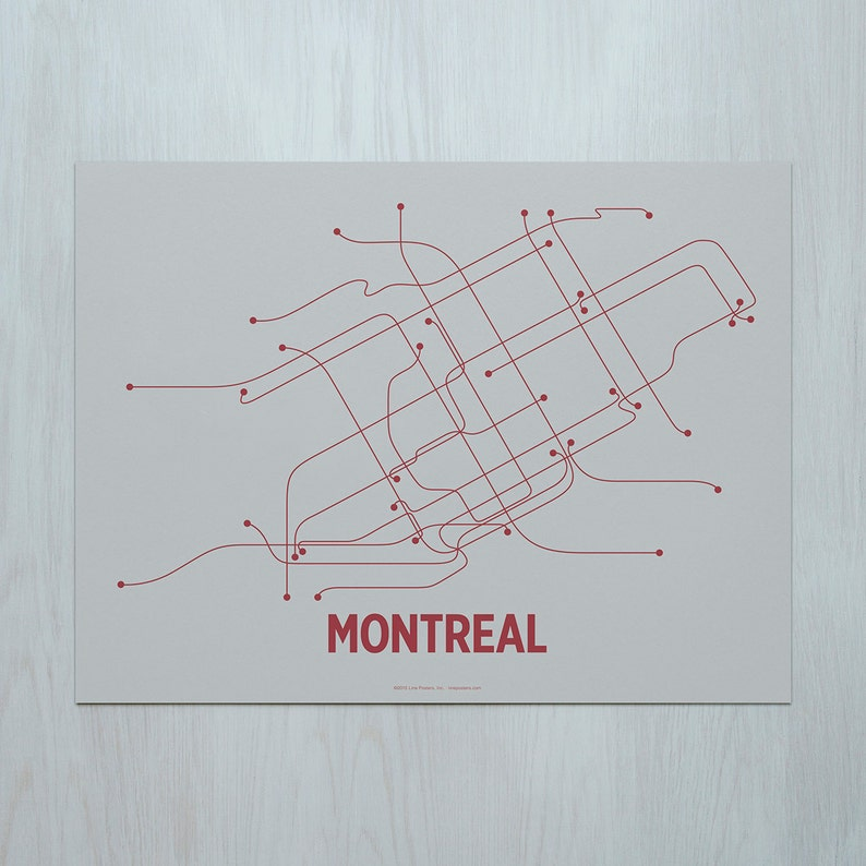 Montreal Screen Print Chip Gray/Red image 0