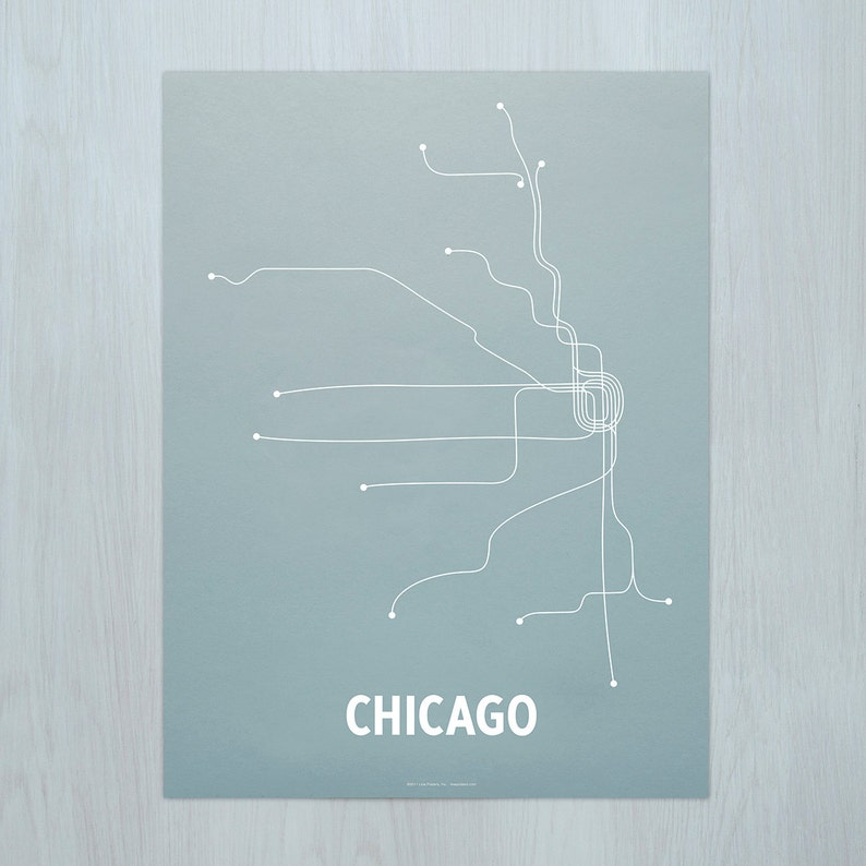 Chicago Screen Print Steel Blue/White image 0