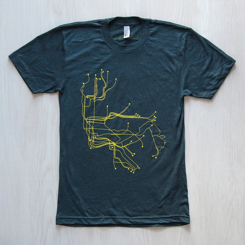NYC T-Shirt  Black Aqua/Yellow image 0