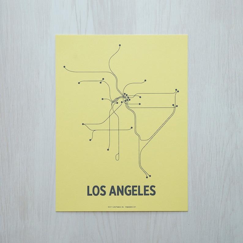 LA Sm Screen Print  Pale Yellow/Gray image 0