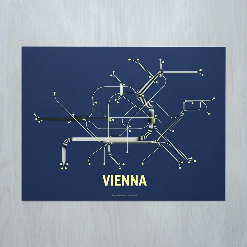 Vienna Screen Print Navy/Lime Yellow image 0