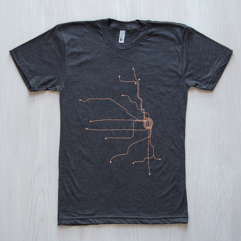 Chicago T-Shirt  Dark Gray/Coral image 0