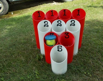 Pipe Ball-Yard Game-Outdoor Game-Family Game-Team Game-Lawn Game-Event Game-Party Game-Graduation Game - Drinking Game-Camping Game