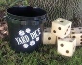 Yard Dice - Drinking Game - Lawn Games - Outdoor Game - Wood Burned - Camping Game - Yardzee - Outdoor Game - Wedding Game - Family Fun