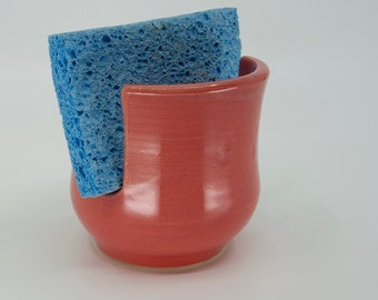 Sponge / Scrubby Holder with Dusty Rose glaze by Seiz Art Pottery  - FREE Shipping on all orders