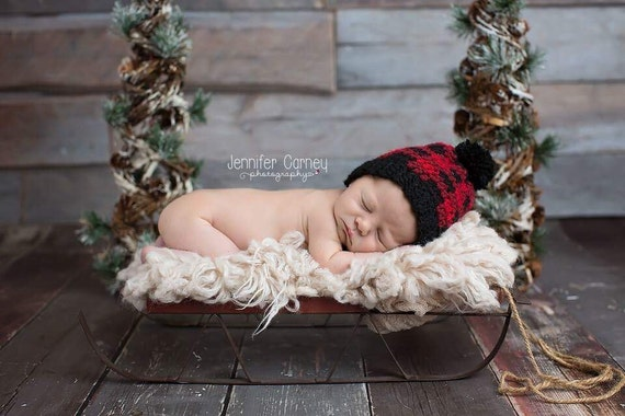 f82dfd508 On SALE, Buffalo Plaid Hat, Buffalo Plaid Newborn Hat, Plaid Baby Boy Hat,  Plaid Baby Girl Hat, Plaid Crochet Hat, Crochet, Buffalo Plaid