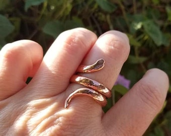 Handmade Double Twisted Copper Snake