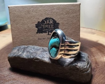 Handmade Sterling Silver and Turquoise Ring, OOAK