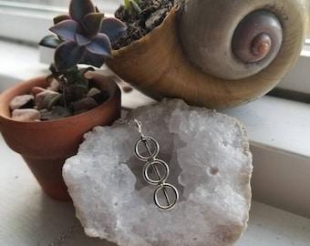 "Health, Healing, Symbols, Alchemy, Pagan, Silver, Pendant w/ 18"" Silver Chain"