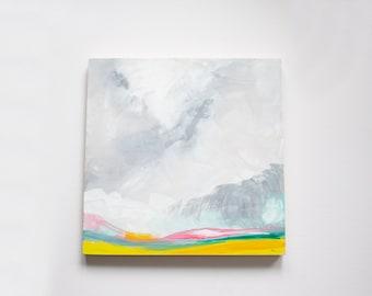 Prairie Sky Painting - Original Acrylic Painting on cradled Birch