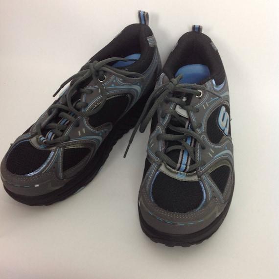 09915cff566e Vtg Womens Skechers Shape Ups Gray Blue Sneakers Sz 8