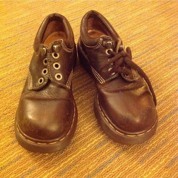 Vintage Dr Martens Docs Brown Leather 3
