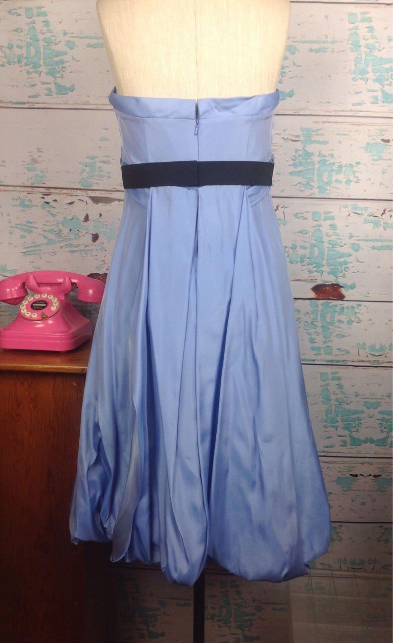Sz 10 M Medium Vintage 90s 1990s Bridal Maids Bridesmaids Party Taffeta Gown Vtg Vera Wang Blue Prom Dress Strapless