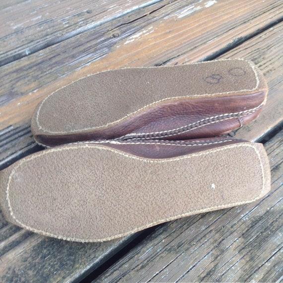 Vintage Ralph Lauren Distressed Brown Leather Moc… - image 8
