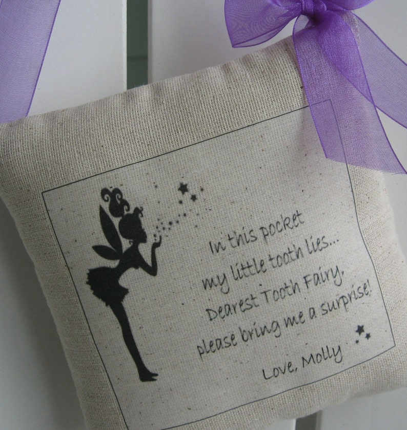 christening//baby gift Tooth fairy pillow purple//blue//pink//orange