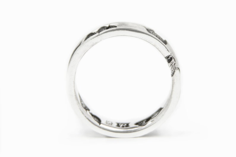 in Sterling Silver Impressions Band