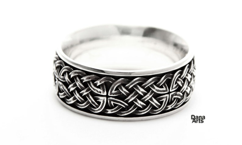 Celtic knot band Sterling Silver